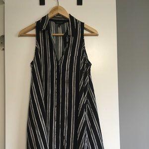 Banana Republic striped button up dress
